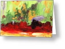 Jill's Abstract Greeting Card