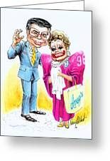 Jim And Tammy Greeting Card by Harry West