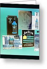 Jim Beam Signs On Display - Color Invert Greeting Card
