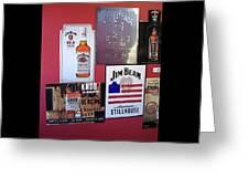 Jim Beam Signs On Display Greeting Card
