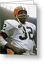 Jim Brown, Cleveland Browns, Signed Greeting Card