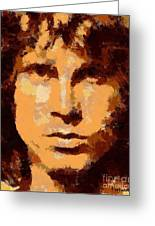 Jim Morrison - Digital Art Greeting Card