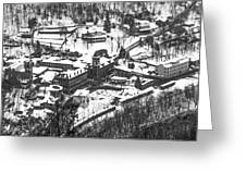 Jim Thorpe Pennsylvania In Winter In Black And White Greeting Card