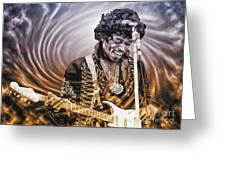 Jimi Hendrix - Legend Greeting Card