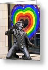 Jimi Hendrix Love On Capitol Hill Greeting Card