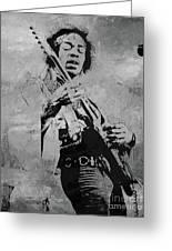 Jimi Hendrix Pop Star  Greeting Card