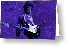 Jimi Hendrix Purple Haze Greeting Card