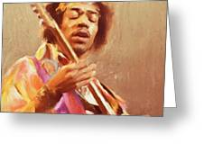 Jimi Jamming Greeting Card