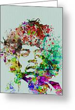 Jimmy Hendrix Watercolor Greeting Card