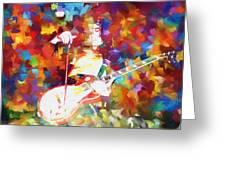 Jimmy Page Jamming Greeting Card