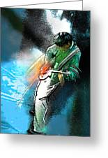 Jimmy Page Lost In Music Greeting Card