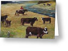 Jim's Cattle Greeting Card