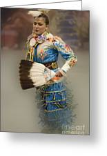 Pow Wow Jingle Dancer 7 Greeting Card