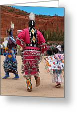 Jingle Dress And Fancy Shawl Dancers Greeting Card