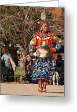 Jingle Dress Dancer At Star Feather Pow-wow Greeting Card