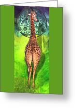 Jirafa Greeting Card