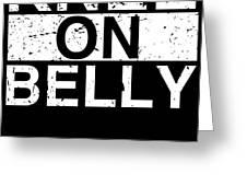 Jiu Jitsu Bjj Knee On Belly Light Greeting Card