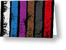 Jiu Jitsu Design United Belts Of Jiu Jitsu Vertical Light Martial Arts Greeting Card