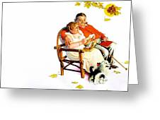 Jlm-norman Rockwell 28 Norman Rockwell Greeting Card