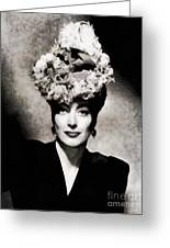 Joan Crawford, Hollywood Legend By John Springfield Greeting Card