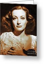 Joan Crawford, Hollywood Legends Greeting Card