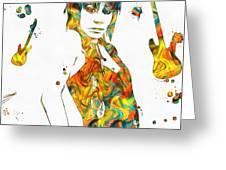 Joan Jett Colorful Paint Splatter Greeting Card
