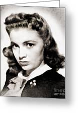 Joan Leslie, Vintage Actress Greeting Card