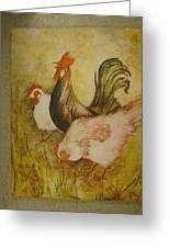 Joanna'sthree Chickens Greeting Card