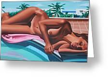 Poolside Dreaming Greeting Card