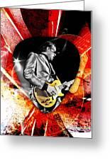 Joe Bonamassa Blue Guitar Art Greeting Card