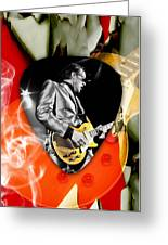 Joe Bonamassa Blues Guitar Art Greeting Card