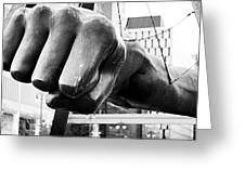 Joe Louis Fist - Detroit Greeting Card by Alanna Pfeffer