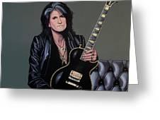 Joe Perry Of Aerosmith Painting Greeting Card