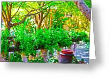 Joe T Garcias Gardens Greeting Card