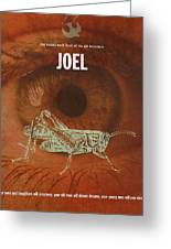 Joel Books Of The Bible Series Old Testament Minimal Poster Art Number 29 Greeting Card