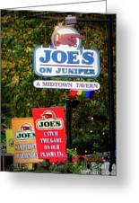 Joe's On Juniper Greeting Card