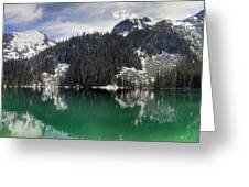 Joffre Lake Middle Panorama B.c Canada Greeting Card