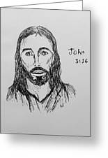 John 3 16 Greeting Card