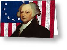 John Adams And The American Flag Greeting Card