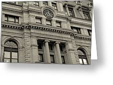 John Adams Courthouse Boston Ma Black And White Greeting Card