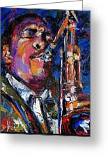 John Coltrane Live Greeting Card