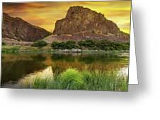 John Day River At Sunrise Greeting Card