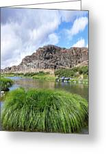 John Day River Landscape In Summer Portrait Greeting Card