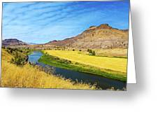 John Day River Panoramic View Greeting Card