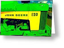 John Deere 630 Greeting Card