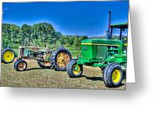 John Deere Lineup Greeting Card