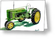 John Deere Tractor Greeting Card