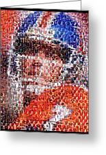 John Elway Mosaic Greeting Card