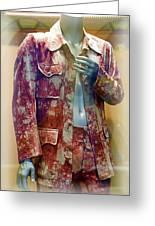 John Entwistle's Tie Died Suede Suit Greeting Card