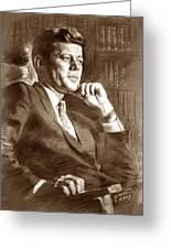 John Fitzgerald Kennedy Greeting Card